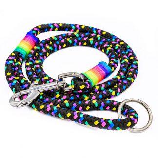 Hundeleine aus PPM-Seil Disco/Regenbogen