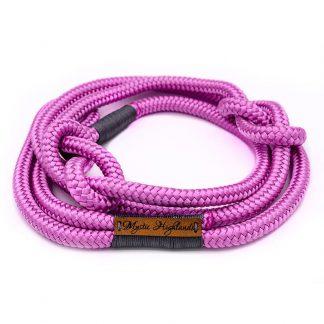 Retrieverleine aus PPM-Seil pink/grau
