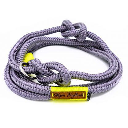 Retrieverleine aus PPM-Seil grau/neongelb