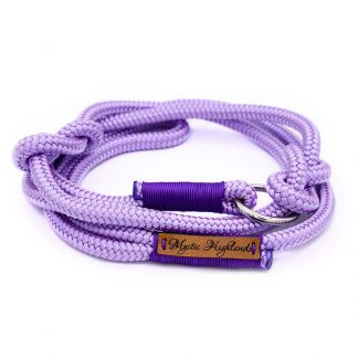 Retrieverleine aus PPM-Seil lilac/purple