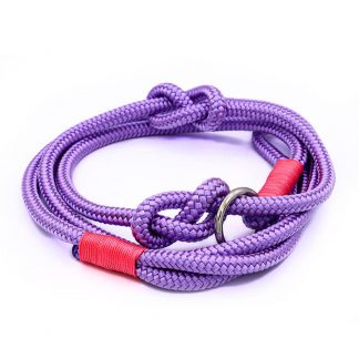 Retrieverleine aus PPM-Seil lilac/pink