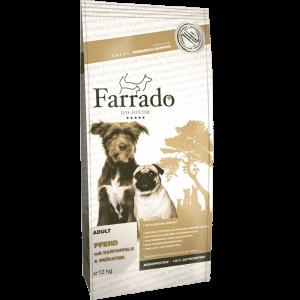 Farrado Pferd mit Kartoffel und Früchten