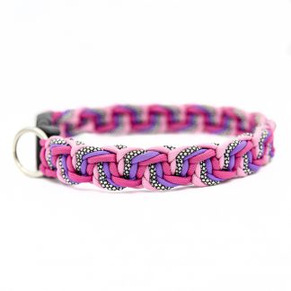 4UniqueDogs Halsband Jelly aus Paracord Pink