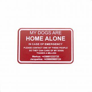 Emergency selbstklebendes Schild