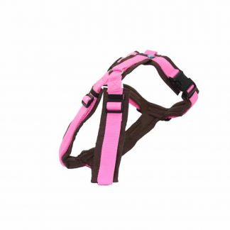 4 Unique Dogs Anny-X Brustgeschirr Fun Sonderfarbe braun / rosa