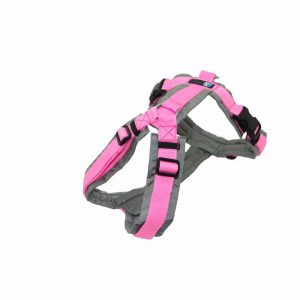 Anny-X Brustgeschirr Fun Sonderfarbe grau / rosa