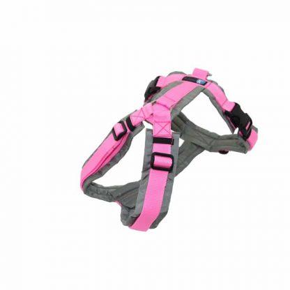 AnnyX Brustgeschirr Fun Sonderfarbe grau / rosa
