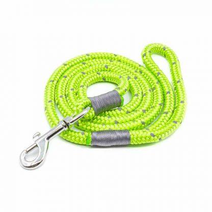 Hundeleine aus PPM-Seil leuchtgrün/grau