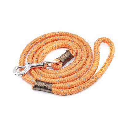 Hundeleine aus PPM-Seil leuchtorange/braun