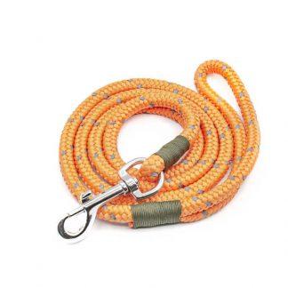 Hundeleine aus PPM-Seil leuchtorange/oliv