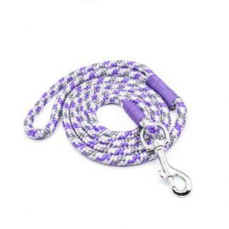 Hundeleine aus PPM-Seil lila/flieder/grau