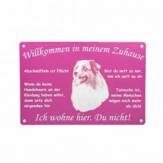 """Schild mit Foto """"Willkommen"""""""