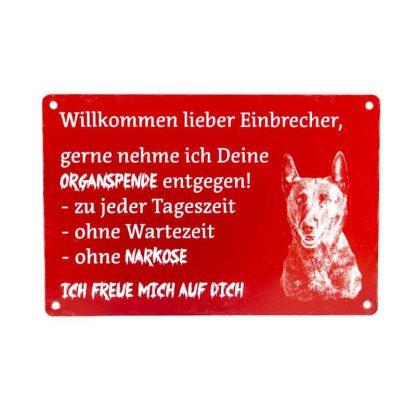 """Schild mit Foto """"Einbrecher"""""""