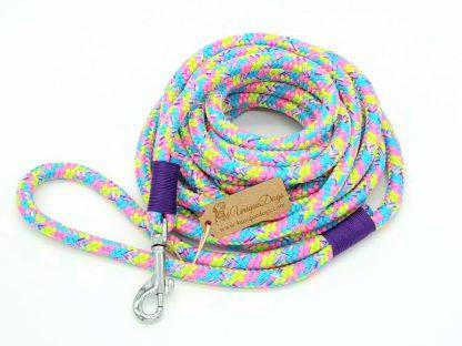 Hundeleine aus PPM-Seil BAT BubbleGum-Purple
