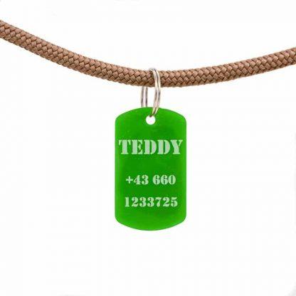 Army ID Tag Acryl mit Namen