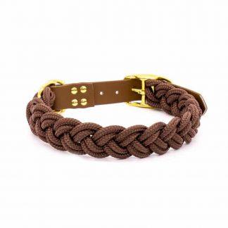 4 Unique Dogs Chocolate Braid Halsband