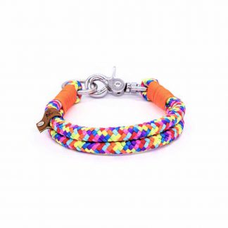 Seil-Halsband Rainbow