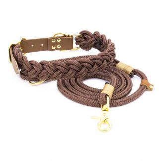 4 Unique Dogs Chocolate Braid Seil-Set
